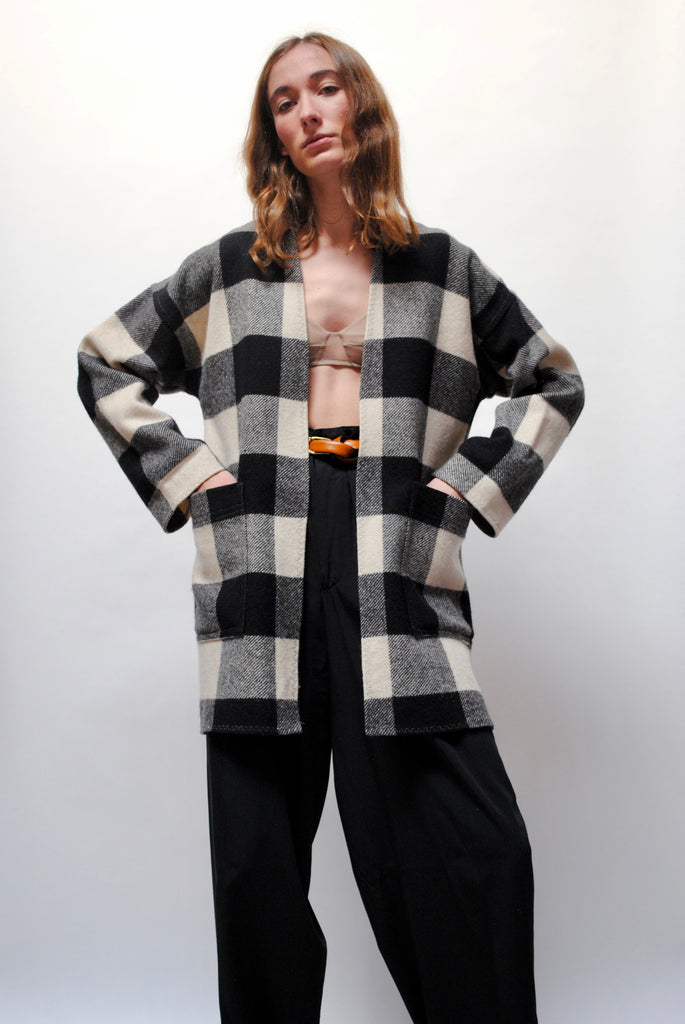 Vintage Checkered Coat