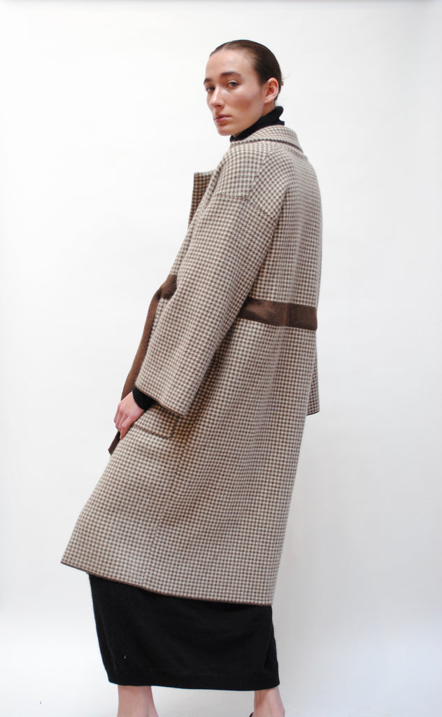 Cashmere Checkered Coat