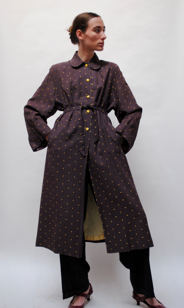 1940's Embroidered Coat