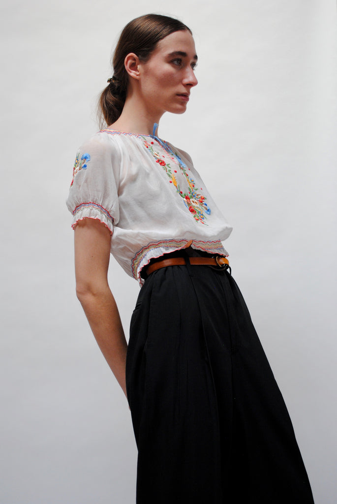 1930's Embroidered Hungarian Blouse
