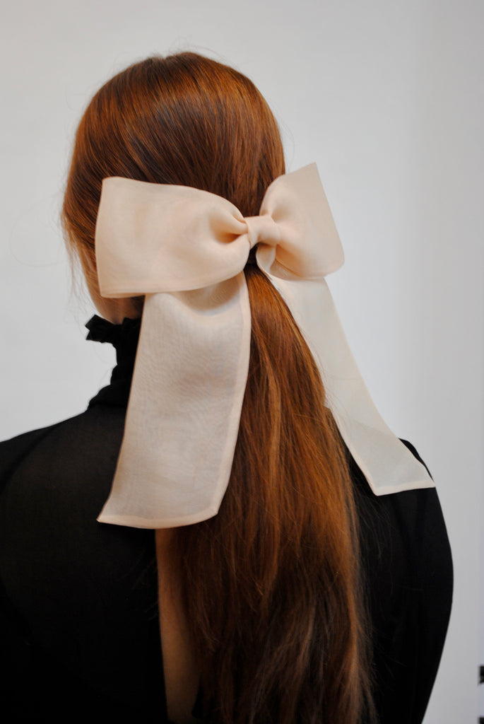 Organza Long Tail Hair Bow
