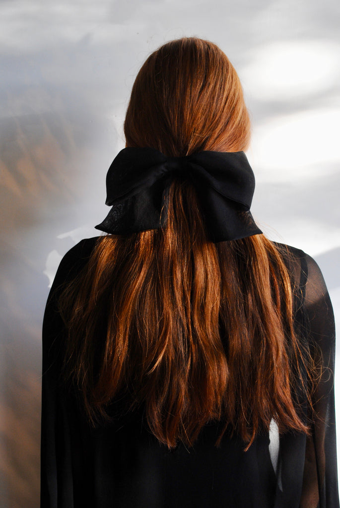 Black Organza Hair Bow