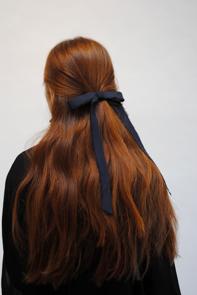 Frayed Silk Hair Bow