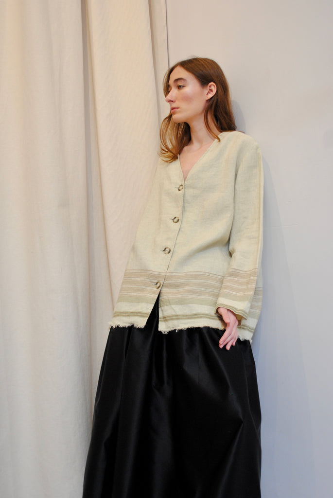 Vintage Striped Linen Jacket