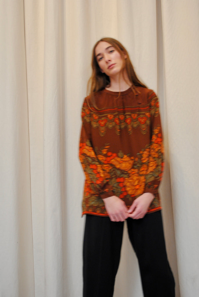 Vintage Carole Little Silk Blouse