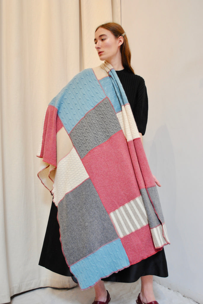 SCOUT Pieced Cashmere Throw