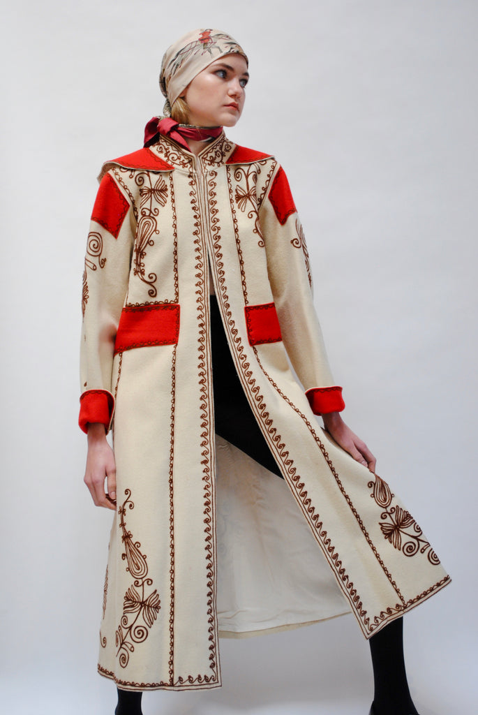 Embroidered Winter Coat