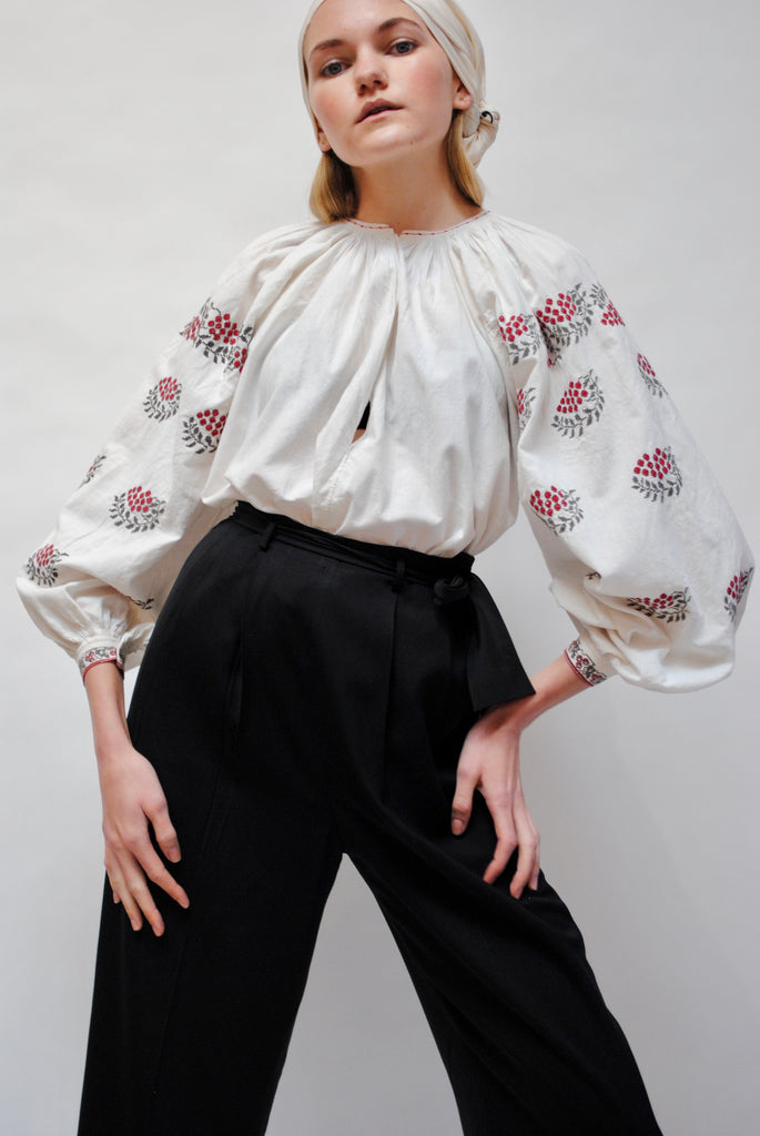 1930s Embroidered Folk Blouse