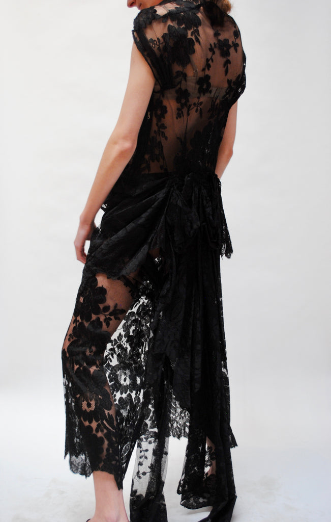 1930s Lace Evening Dress