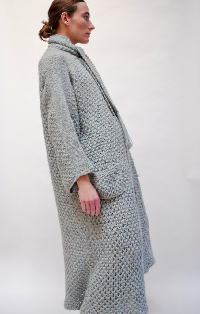 Cashmere and Mohair Knit Sweater