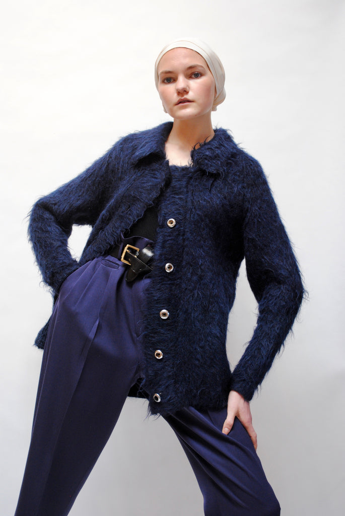 1940s Brushed Mohair Cardigan