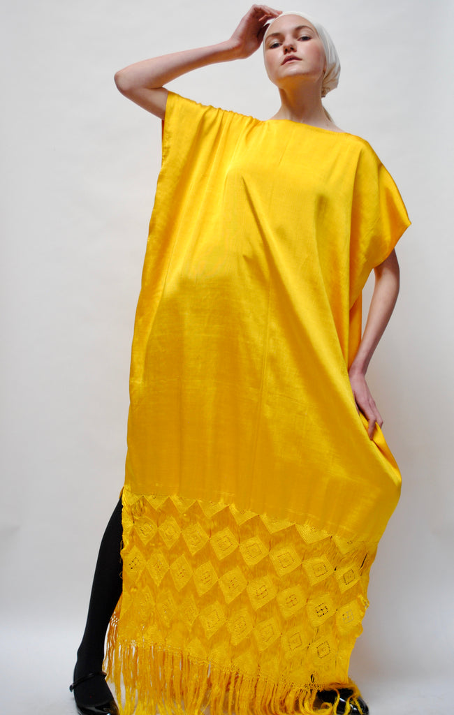Vintage Yellow Caftan