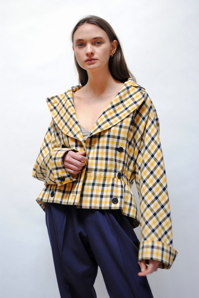 Vintage Checkered Valentino Jacket