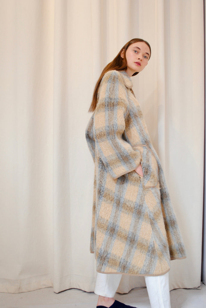 Checkered Mohair Jacket