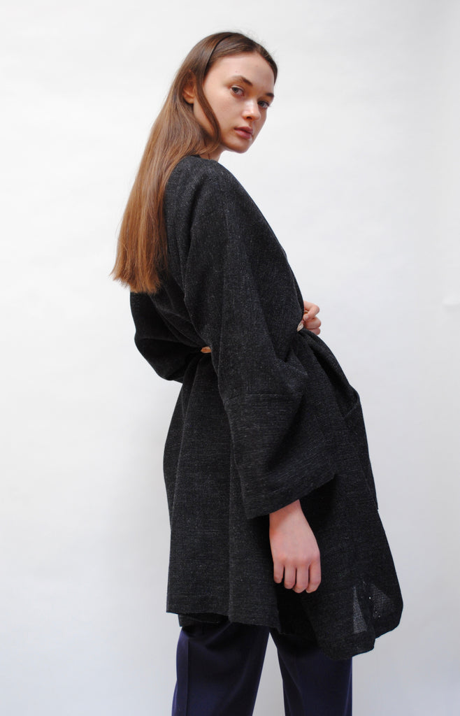 Hand Loomed Charcoal Jacket