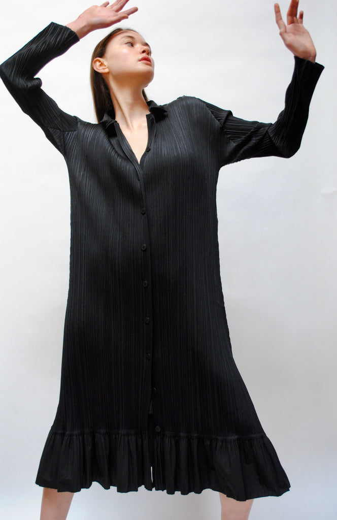 Vintage Issey Miyake Pleated Trapeze Dress