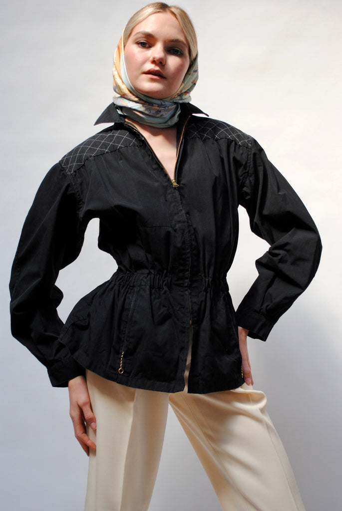 1940s Zip Up Cotton Jacket