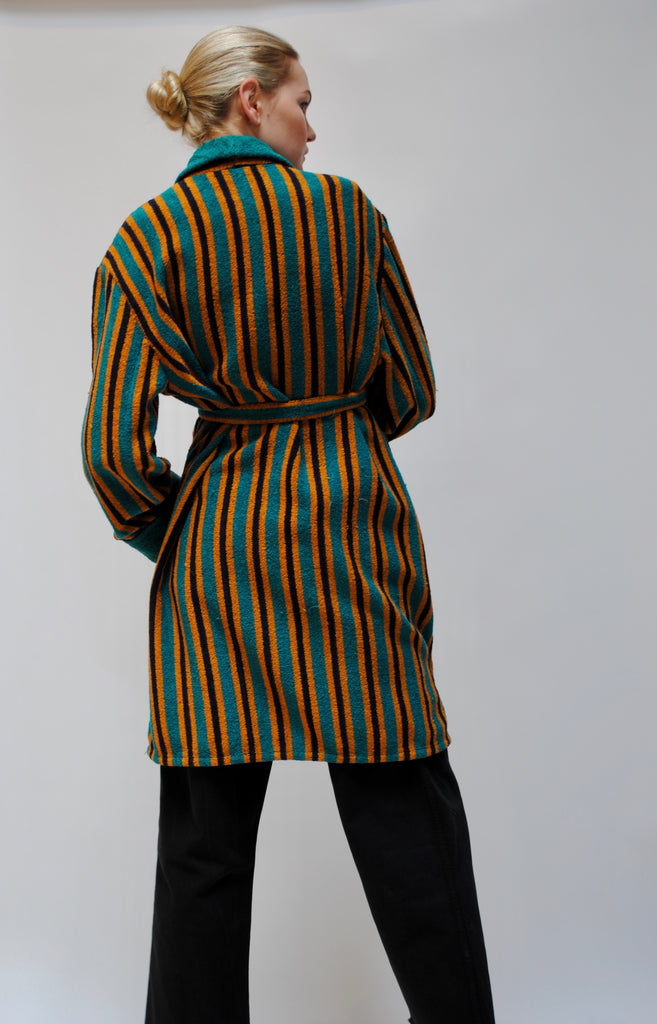 1930s Striped Terry Cloth Duster