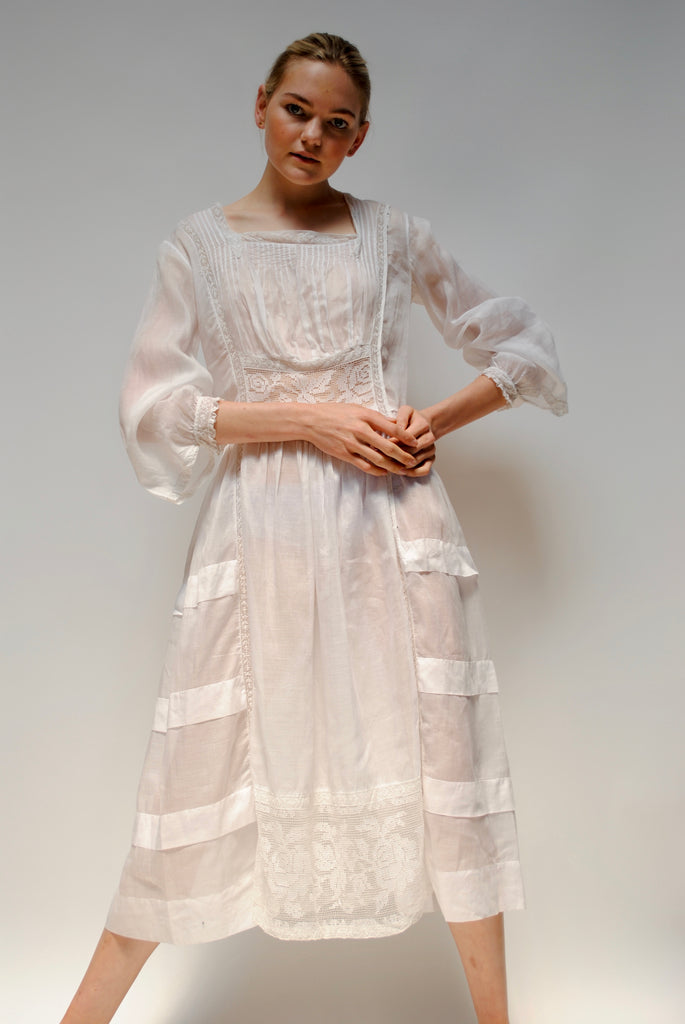 Edwardian Cotton Tea Dress