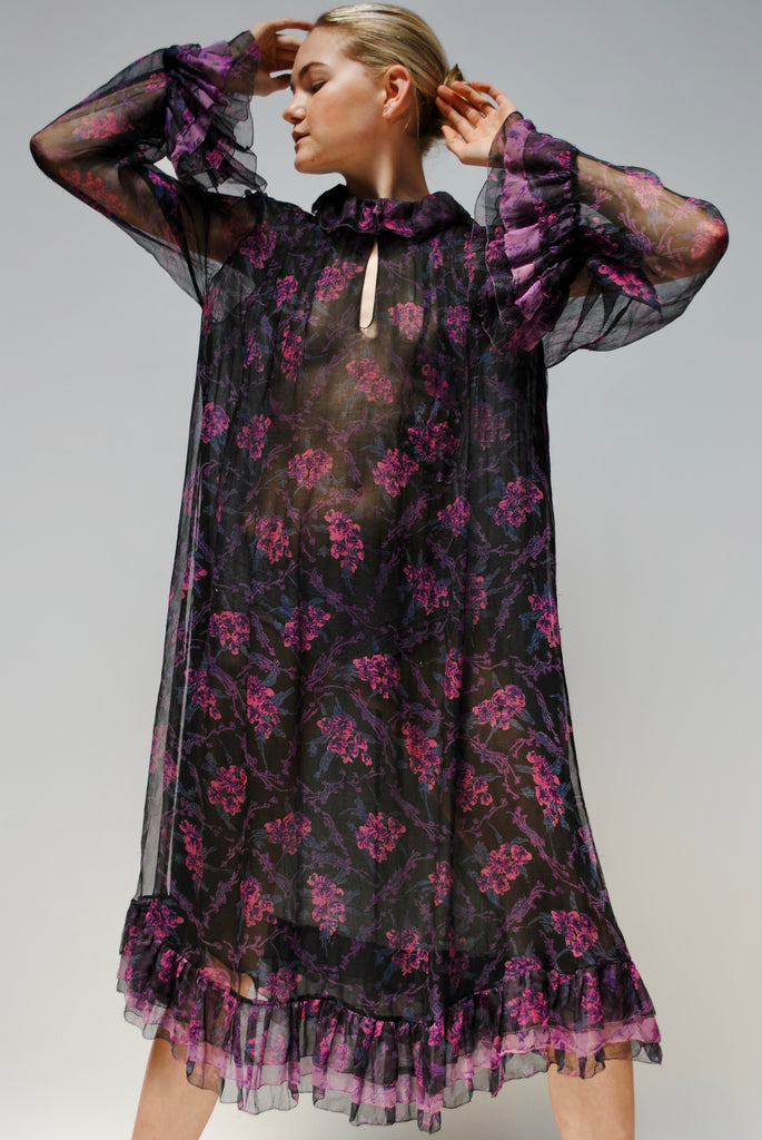 1970s Adini Silk Dress