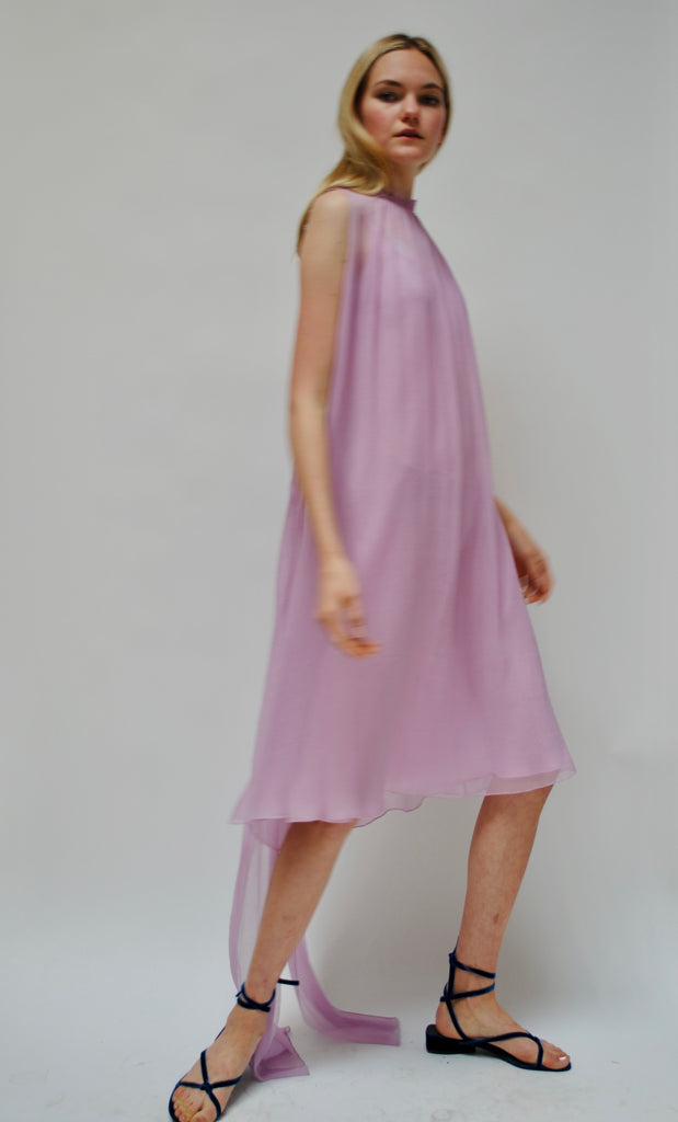 Vintage Silk Chiffon Dress