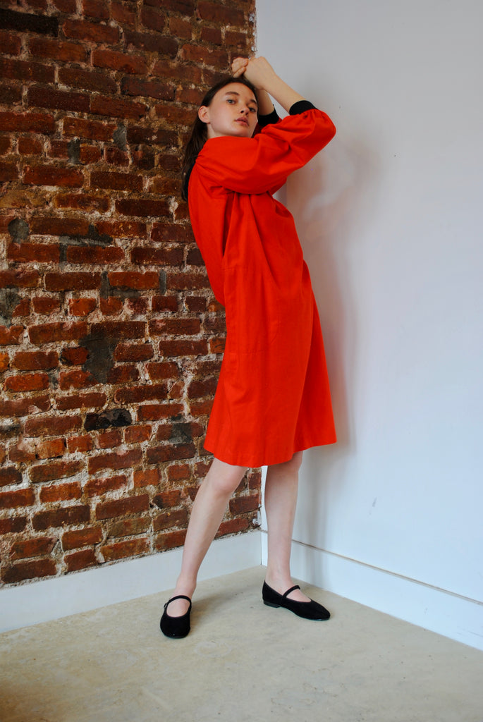 Vintage Yves Saint Laurent Raw Silk Dress
