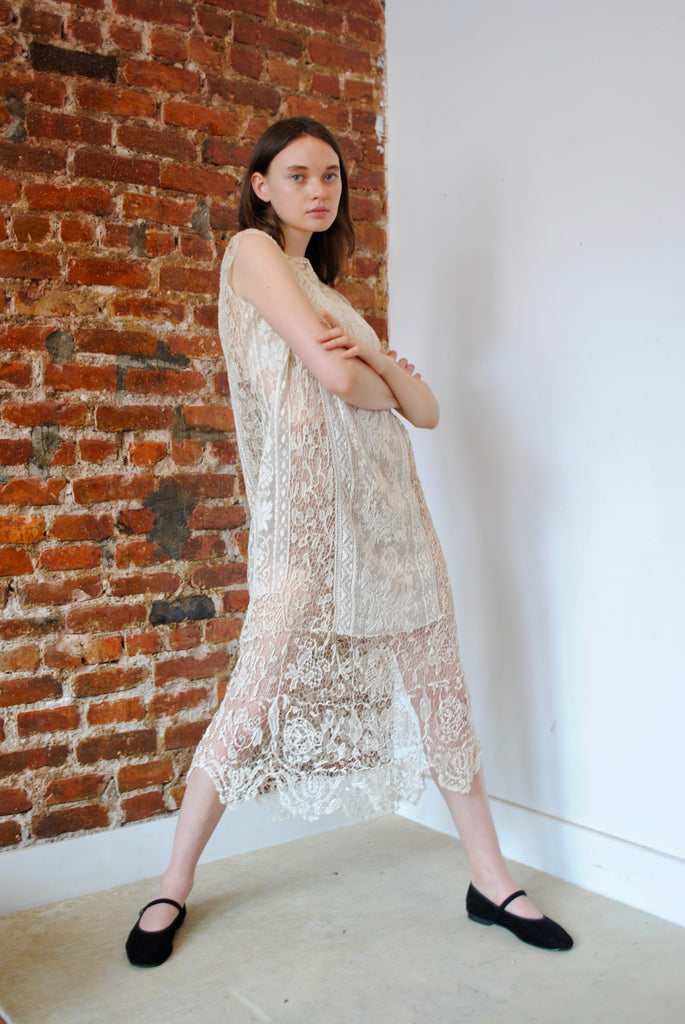 1920s Pieced Lace Dress