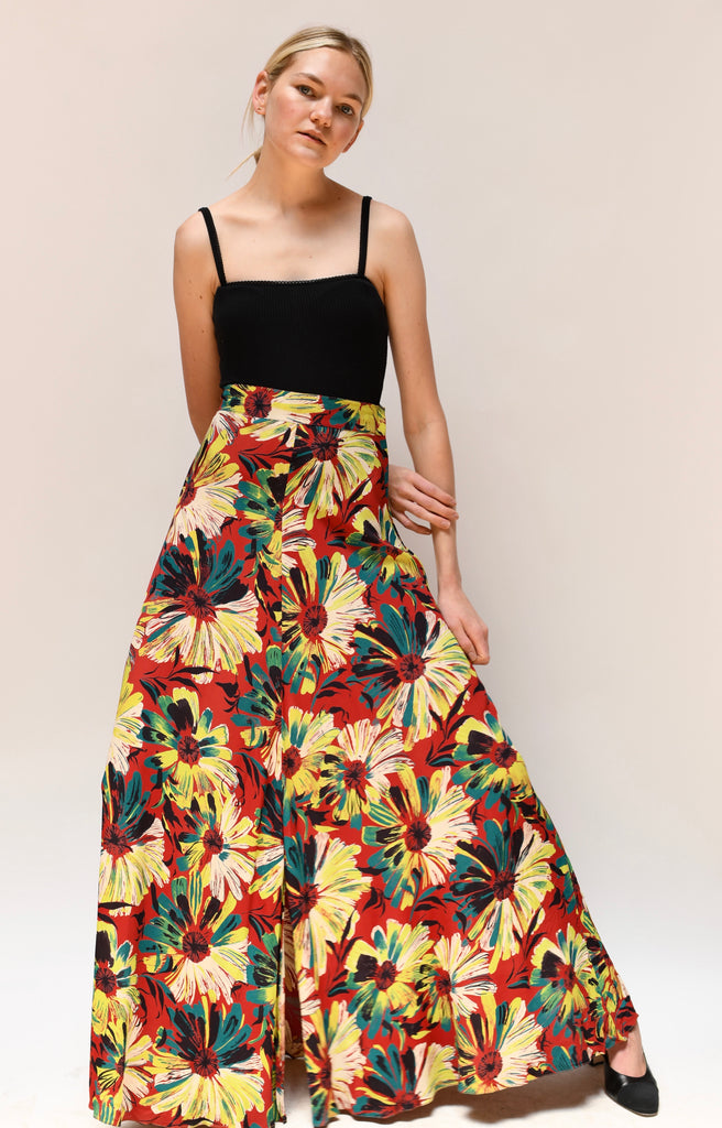 1940s Floral Skirt