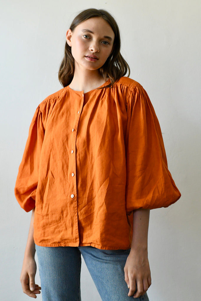Early Jil Sander Linen Blouse