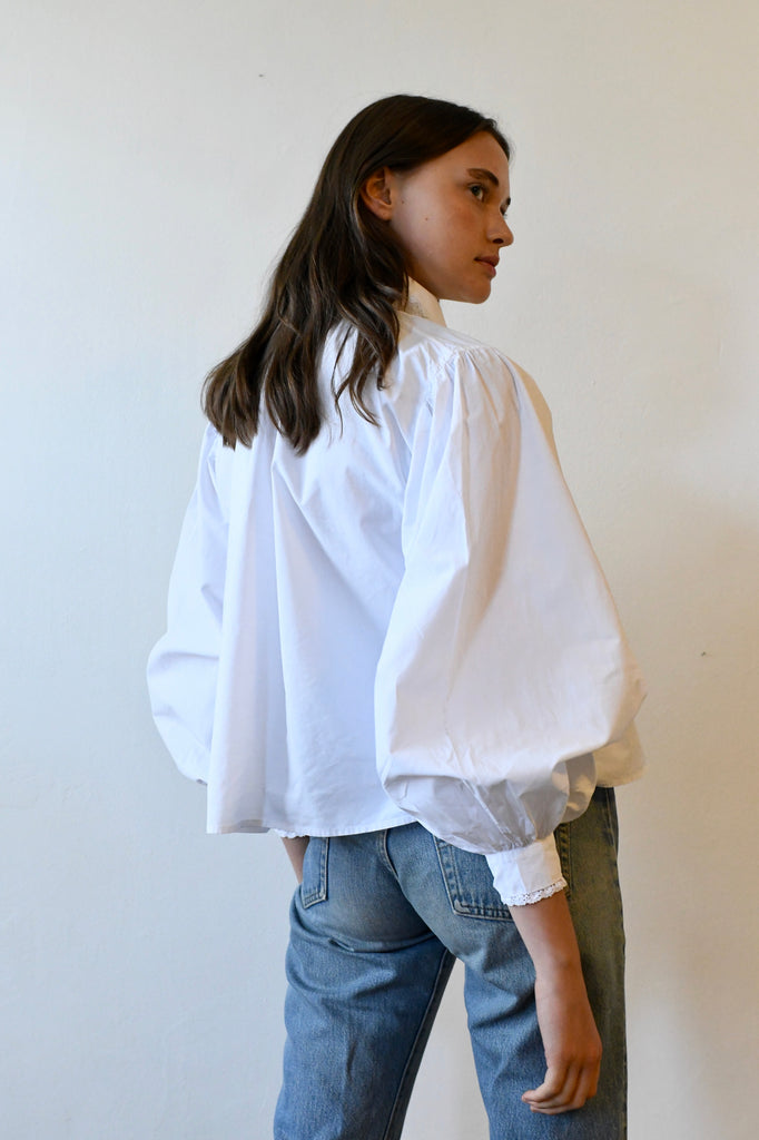 Antique White Cotton Blouse