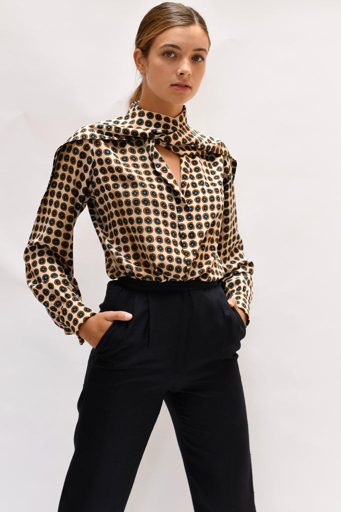 Vintage YSL Couture Blouse