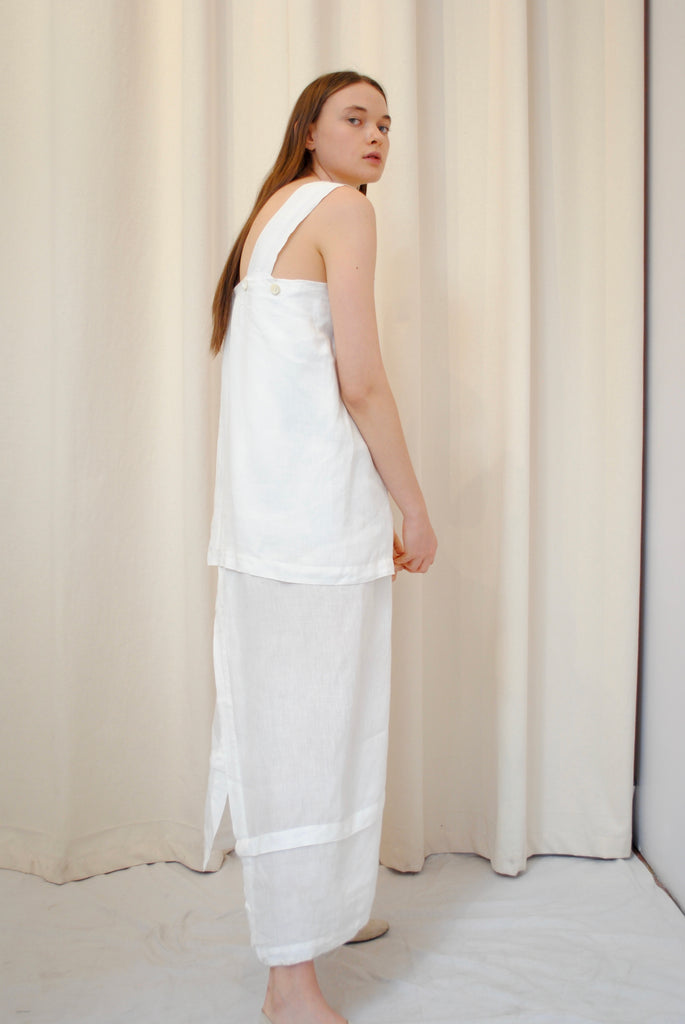 White Linen Day Dress