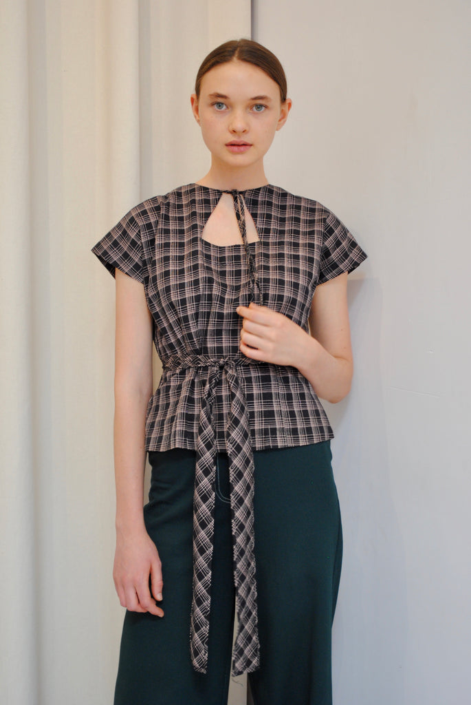 1930's Checkered Blouse