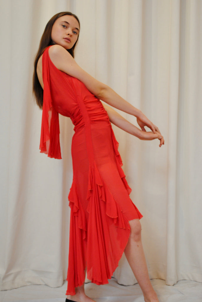 1920's Poppy Red Dress