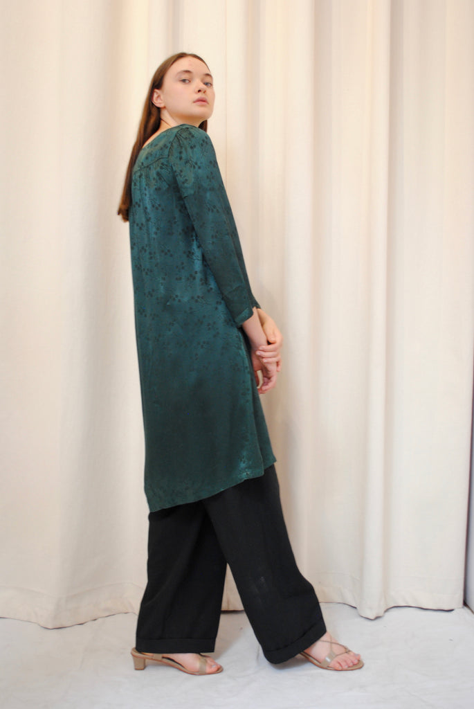 Vintage Jacquard Silk Tunic/Dress