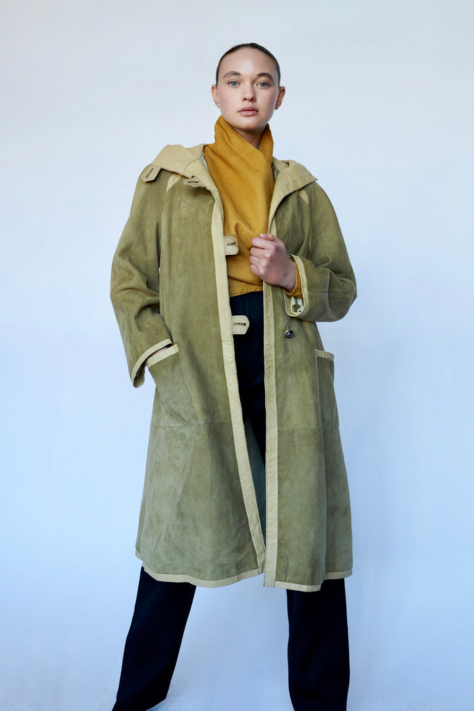 Vintage Suede Toggle Coat