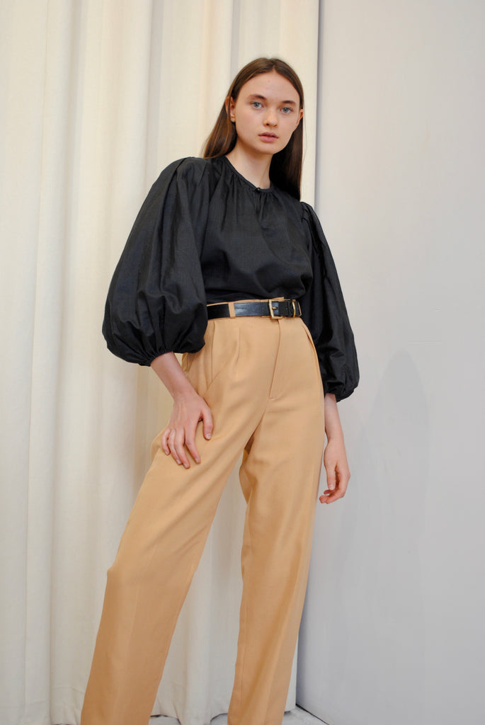 YSL Gathered Silk Blouse