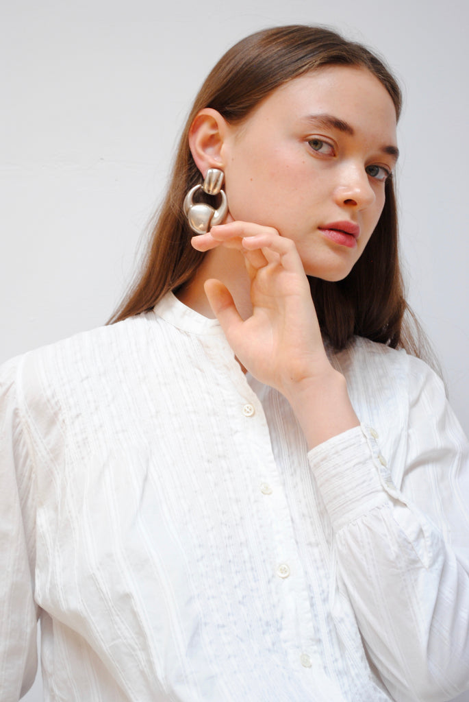 Sterling Sculptural Earrings