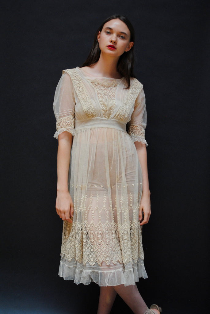 Edwardian Lace Tea Dress