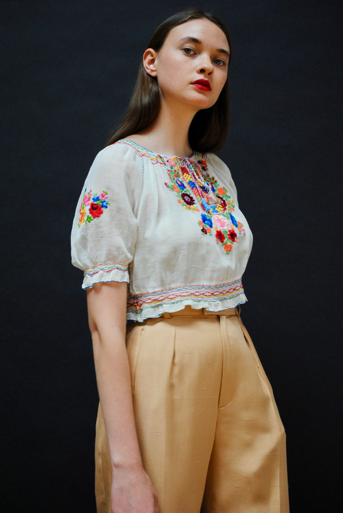1930's Embroidered Top