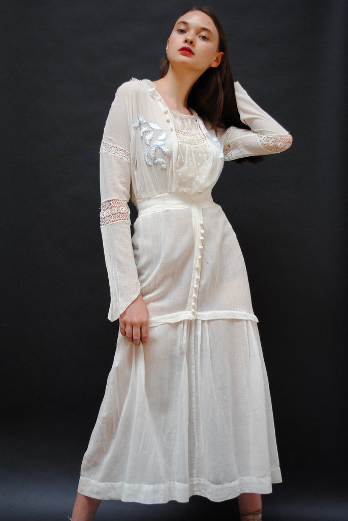 Antique Embroidered Summer Dress