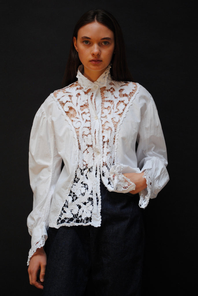 Vintage Inlay Blouse