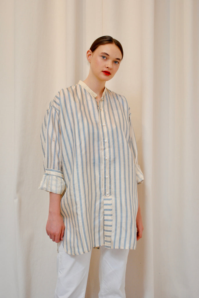 1920s Striped Button Up
