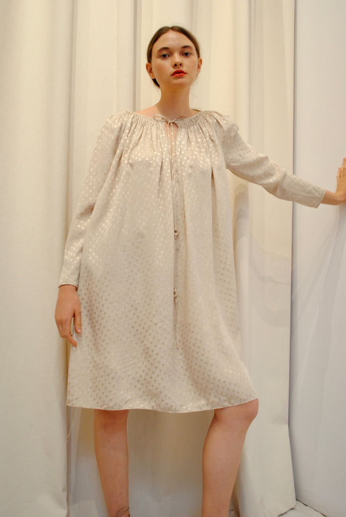 GEOFFREY BEENE Smocked Day Dress