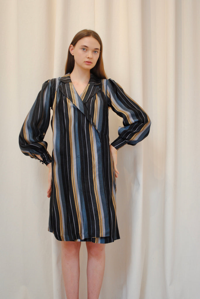 Vintage Striped Silk Dress