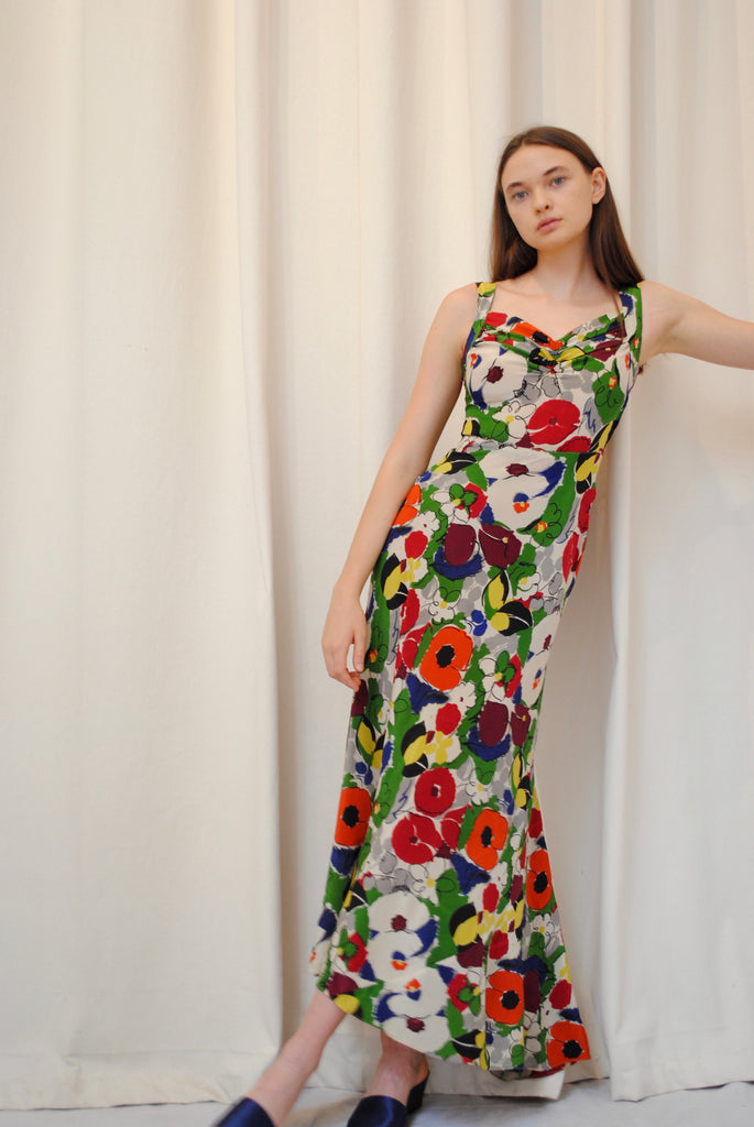 1930's Floral Gown