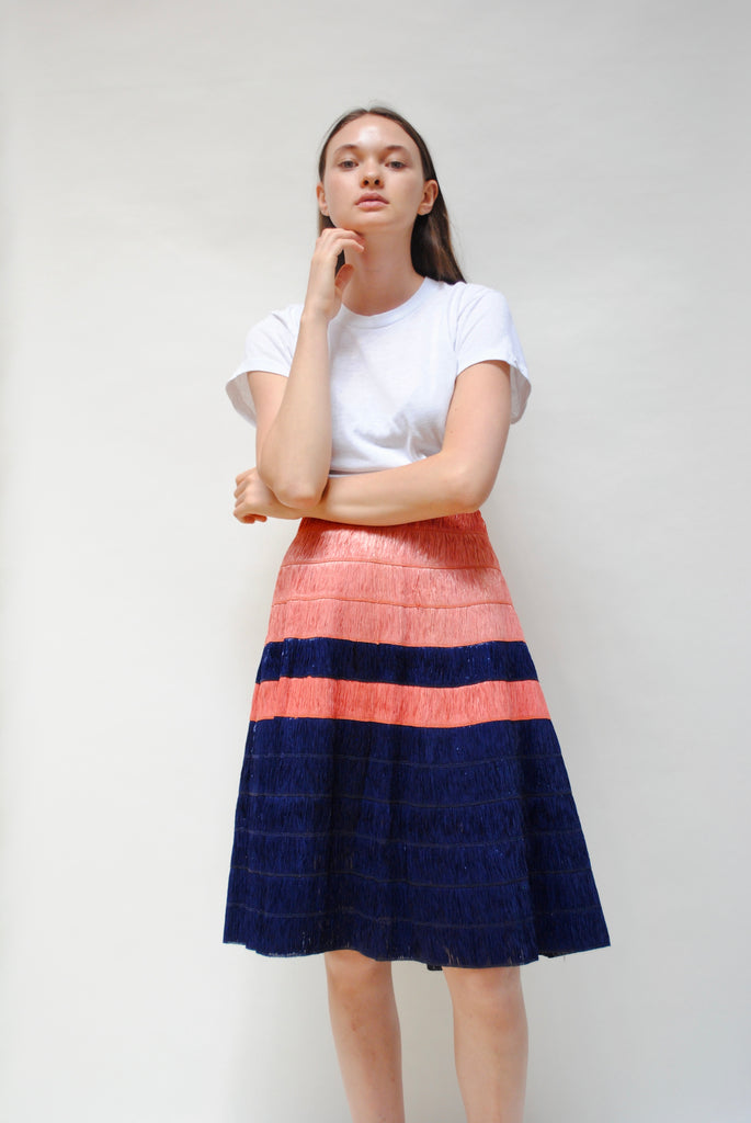Two-Toned Raffia Skirt