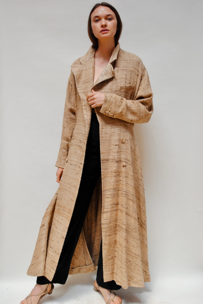 Raw Silk Duster