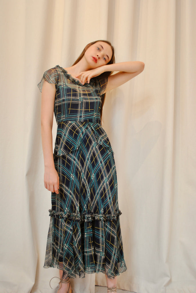1930s Printed Day Dress