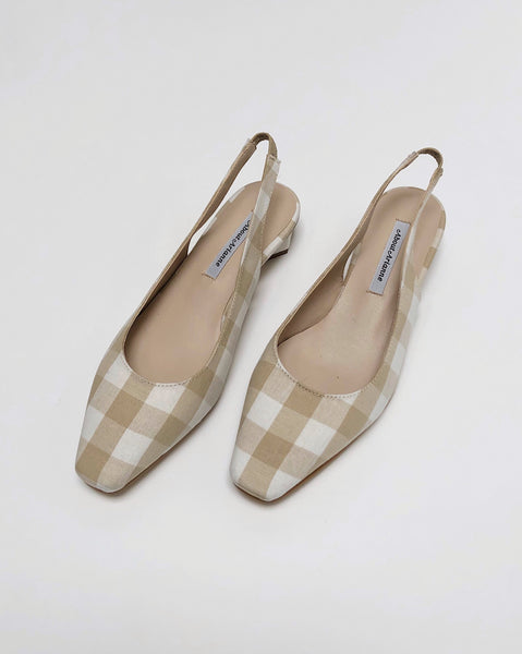 About Arianne Galo Gingham Slingback Heel in Provence